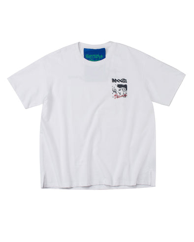WHITE COMIC GRAPHIC T-SHIRT - INXX USA