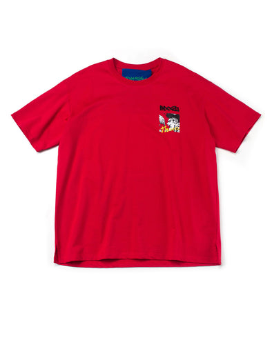 RED COMIC GRAPHIC T-SHIRT - INXX USA