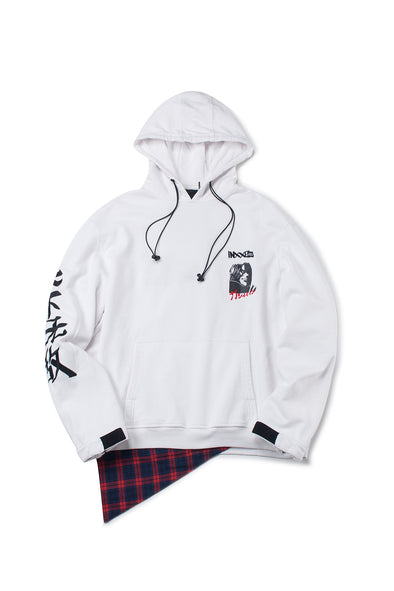 WHITE COMIC GRAPHIC HOODIE - INXX USA