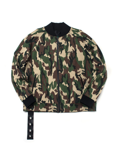 CAMO FRENCH TERRY RAGLAN JACKET - INXX USA