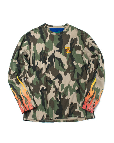 Camo Long Sleeve Jersey - INXX USA