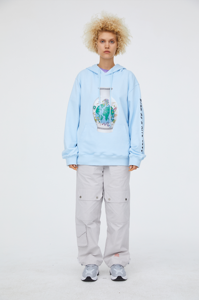 INXX Steven Harrington Butterfly World Vase Hoodie Blue