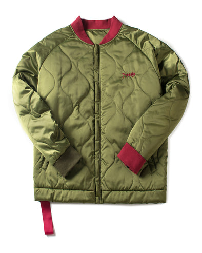 OLIVE GREEN PADDED JACKET - INXX USA