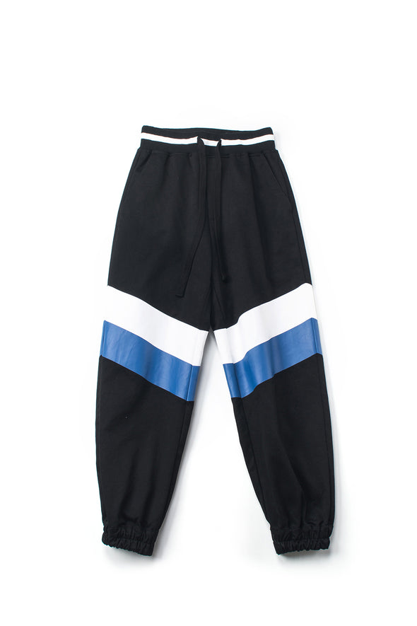 Print Striped Black Jogger Pants - INXX USA