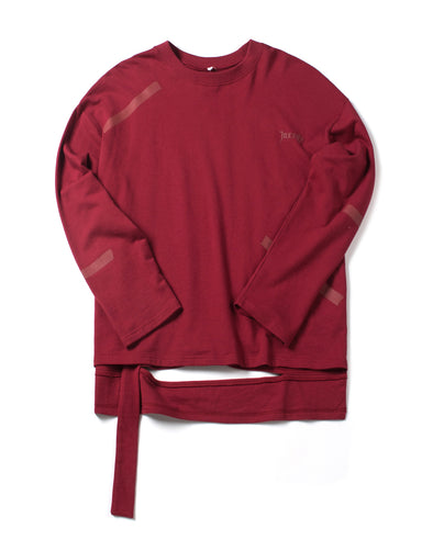 BURGUNDY LONG SLEEVE TEE - INXX USA