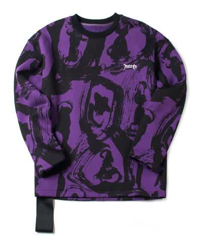 Purple and Black All Over Printed Sweatshirt - INXX USA