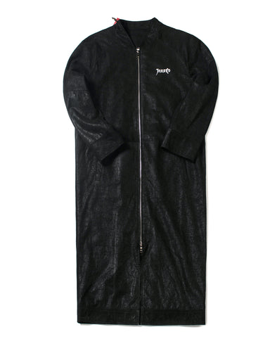 Black Leather Trench Coat - INXX USA