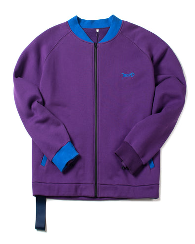 PURPLE RAGLAN STADIUM JACKET - INXX USA