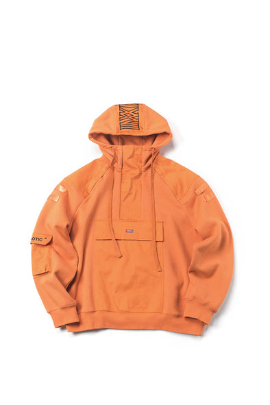 ORANGE ZIP-FRONT OVERSIZED HOODIE - INXX USA