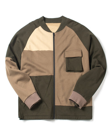 Earth Tone Fleece Stadium Jacket - INXX USA