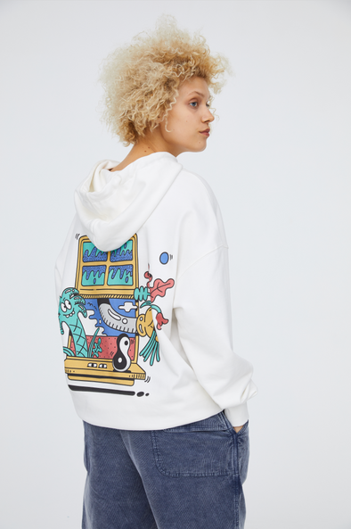 INXX Steven Harrington Window Hoodie White