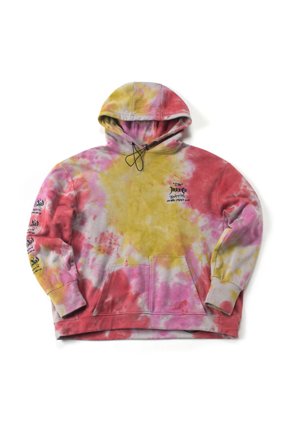 Red French Terry Tie-Dye Hoodie - INXX USA
