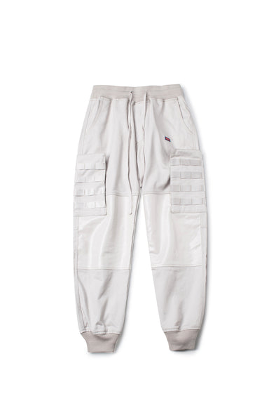 Off White Striped And Embroidered Jogger Pants - INXX USA