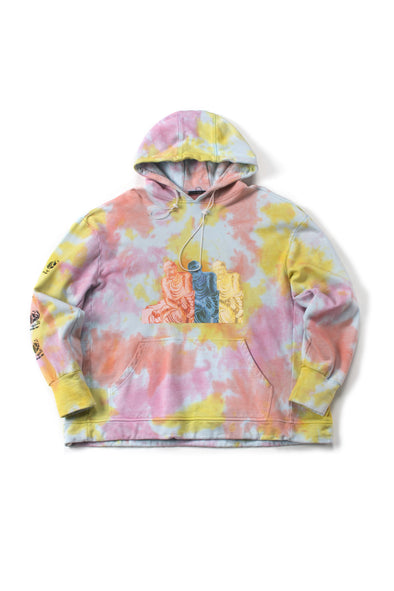 Yellow French Terry Tie-Dye Hoodie - INXX USA