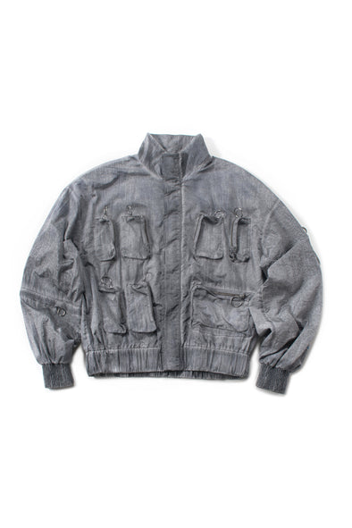 Oversized Nylon Cargo Jacket - INXX USA