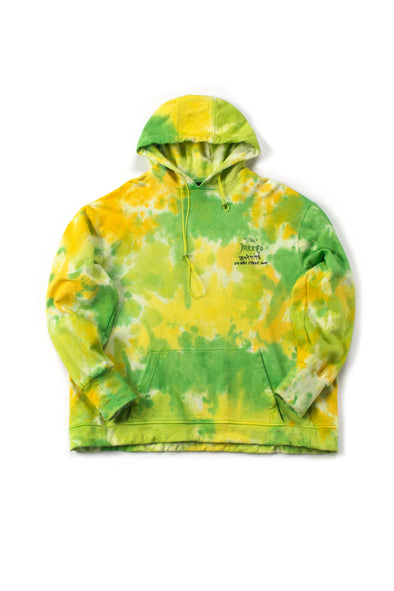 Green French Terry Tie-Dye Hoodie - INXX USA