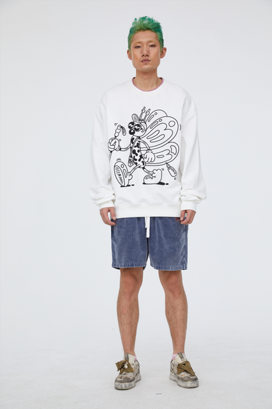 INXX Steven Harrington Butterfly Sweatshirt White
