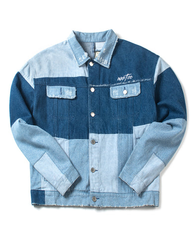 Patched Denim Button Down Jacket - INXX USA
