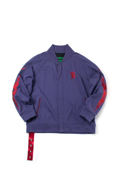 Purple French Terry Track Jacket - INXX USA