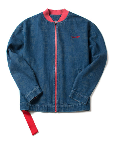 DENIM CONTRAST STADIUM JACKET - INXX USA