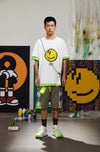 "INXX ""Grafflex"" 8bit Smiley Face Tee White"