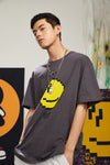 "INXX ""Grafflex"" 8bit Smiley Face Tee Dark Grey"