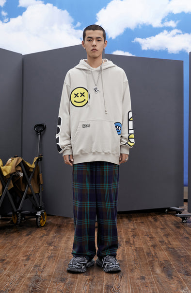 INXX Grafflex HaierBros Smiley Face Hoodie Light Grey