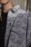 "INXX ""Grafflex"" 8bit Smiley Face Shirt Grey"