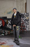 "INXX ""Grafflex"" 8bit Bold Fluffy Jacket Black"