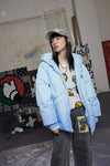 "INXX ""Grafflex"" 8bit Bold Fluffy Jacket Blue"