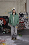 "INXX ""Grafflex"" 8bit Smiley Face Bomber Jacket Green"