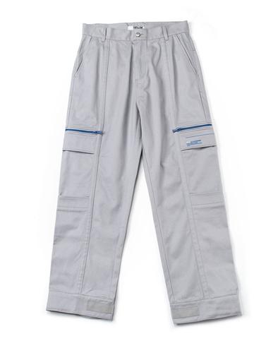 GREY CARGO POCKET VELCRO PANTS - INXX USA