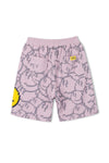 "INXX ""Grafflex"" 8bit Smiley Face Overprint Shorts Pink"