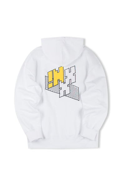 "INXX ""Grafflex"" 8bit Smiley Face Logo Hoodie White"