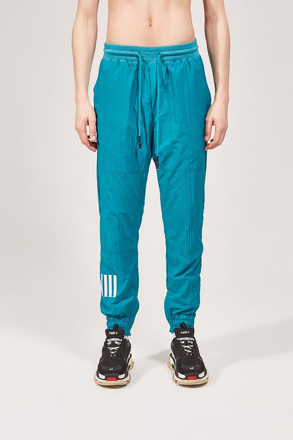 Turquoise Mesh Lined Joggers - INXX USA