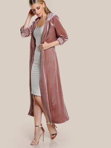 Simply Elegant Velvet Duster Coat