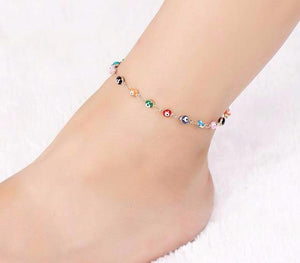 Glass Evil Eye Anklet Chain