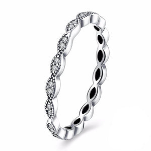 Silver Leaf Stackable Ring