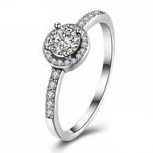 Solitaire Pave Ring