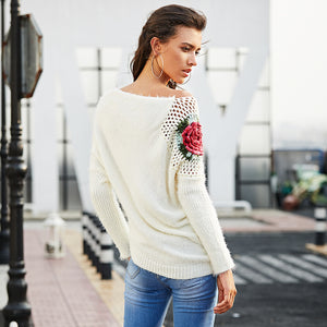 Floral Crochet Sweater