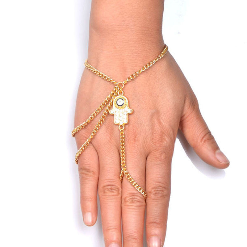 Evil Eye Hamsa Bracelet and Ring