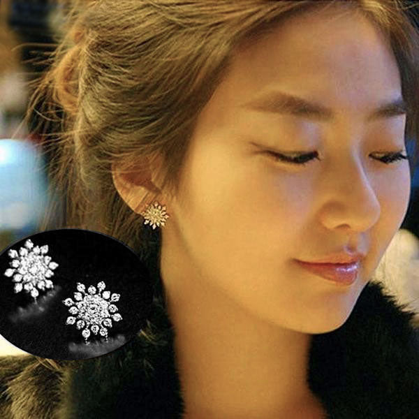 Snowflake Crystal Stud Earrings