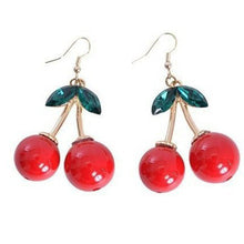 Cherry Enamel Drop Earrings