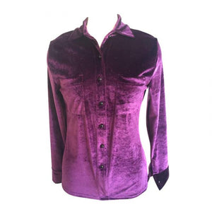Plush Velvet Blouse