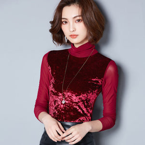 Vintage Turtleneck Velvet