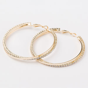 Big Round Hoop Silver/Gold Earring