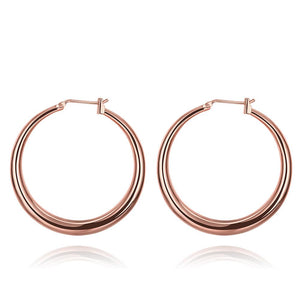 Casualorl round hoop earrings || Gold color
