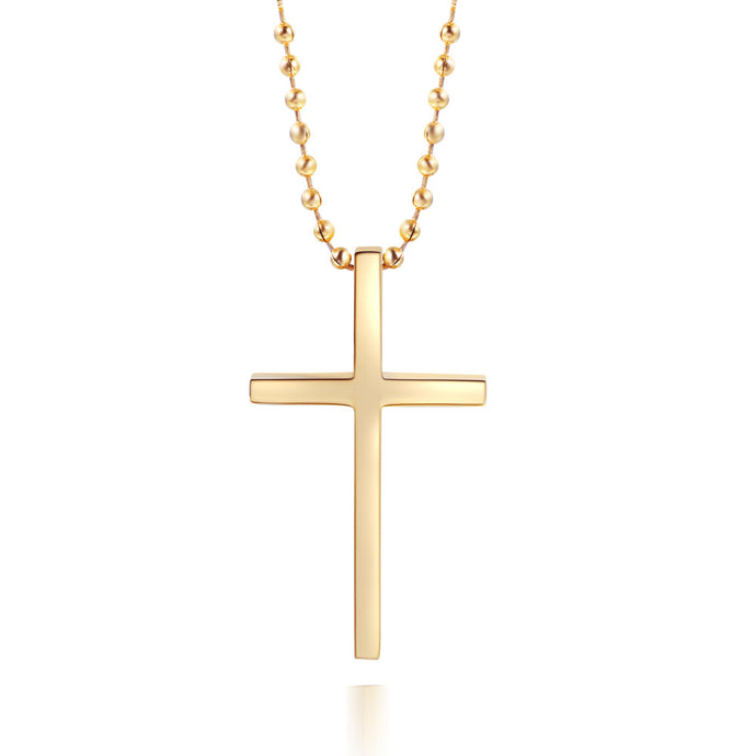 Cross Necklace Trendy Stainless Steel INRI Crucifix Jesus Cross