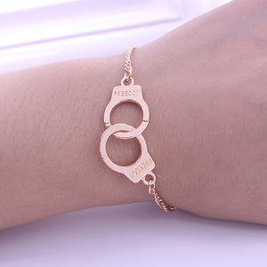 Trendy Handcuffs  Lock Bracelets & Bangles Couple Lover