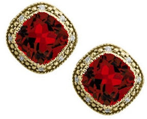 Antique Ruby Earrings